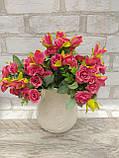 Троянда прованс в 2-х кольорах h-31см, 55/45 (цена за 1 шт. + 10 гр.), фото 6