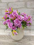 Троянда прованс в 2-х кольорах h-31см, 55/45 (цена за 1 шт. + 10 гр.), фото 8