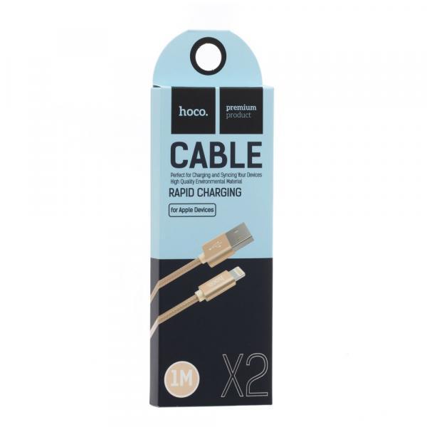 USB Hoco X2 Knitted Lightning