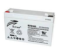 Аккумулятор для ИБП 6В 10Ач AGM Ritar RT6100, 6V 10Ah, 151х50х100 мм