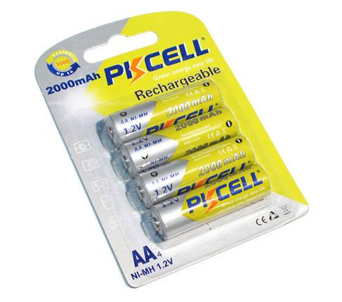 Аккумуляторы AA, 2000 mAh, PKCELL, 4 шт, 1.2V,  Already Charged, Blister (544995), фото 2
