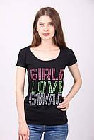 Стильная футболка с яркими надписями.разные цвета, фото 1