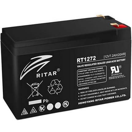 Аккумулятор для ИБП 12В 7.2Ач AGM Ritar RT1272B / 12V 7.2Ah / 151х65х94 мм, фото 2