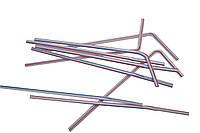 Трубочки с коленом 210 мм 200 шт Полосатые 76071, КОД: 183104