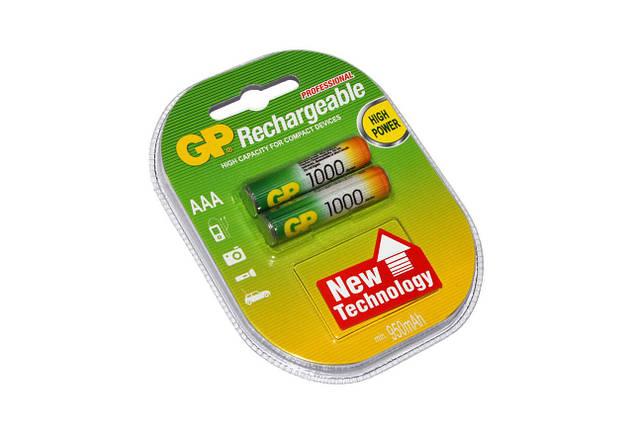 Аккумуляторы ААА, 1000 mAh, GP, 2 шт, 1.2V, Blister (GP100AAAHC-2PL2), фото 2