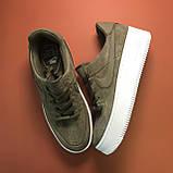 Женские кроссовки Nike Air Force Low Sage Platform Green, женские кроссовки найк аир форс лов сага, фото 4