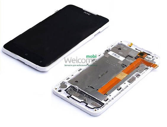 Модуль HTC Desire 516 Dual Sim and frame white дисплей екран, сенсор НТС тач скрін, фото 2