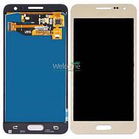 Модуль Samsung SM-A300H Galaxy A3 gold с регулируемой подсветкой дисплей экран, сенсор тач скрин самсунг