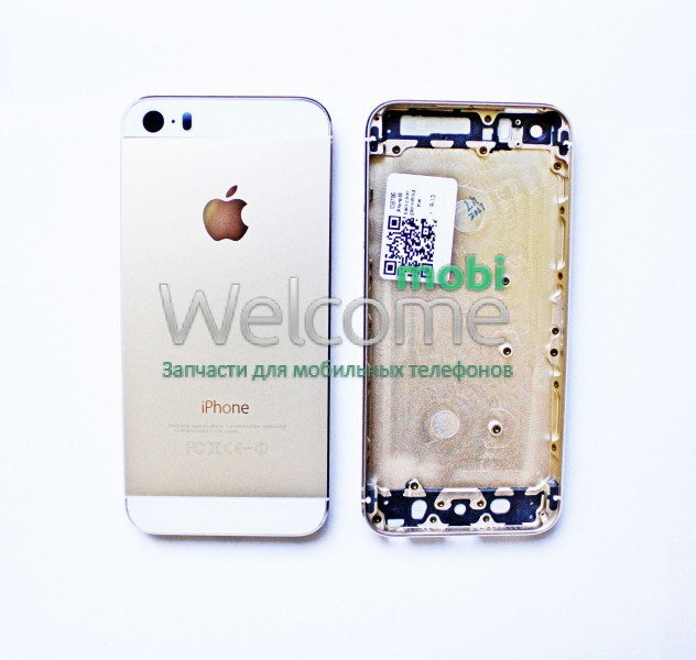 Задня кришка iPhone 5S gold без IMEI, змінна панель айфон 5с