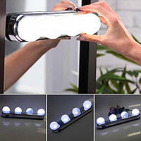Подсветка на зеркало для макияжа, беспроводной светильник на зеркало Studio Glow 4 лампы металлик