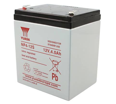 Аккумулятор для ИБП 12В 4Ач Yuasa, NP4-12s, ШхДхВ 90х70х106, фото 2