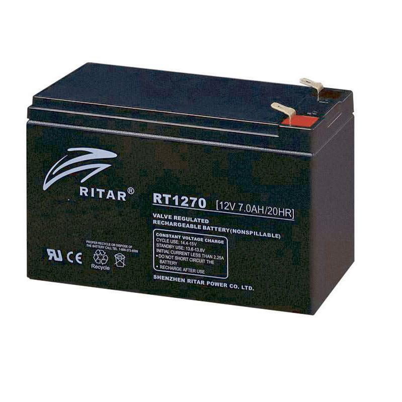 Акумулятор для ДБЖ 12В 8Ач AGM Ritar RT1280, 151х65х100 мм