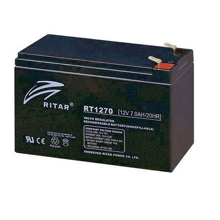 Акумулятор для ДБЖ 12В 8Ач AGM Ritar RT1280, 151х65х100 мм, фото 2