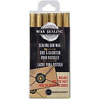 Набір восків - Manuscript Sealing Gun Wax Sticks - Gold - 6 шт.