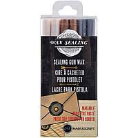 Набір восків - Manuscript Sealing Gun Wax Sticks - Pearl Gold Silver - 6 шт.