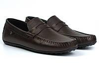 Мокасины коричневые кожаные мужская обувь больших размеров ETHEREAL BS Chelsea Brown Leather, фото 1