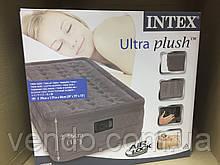 Надувная кровать со встроенным насосом 200В Intex 67952 / 191х99х46 см