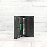 Кошелек 10 cards черный из натуральной кожи saffiano, фото 3
