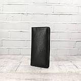 Кошелек 10 cards черный из натуральной кожи saffiano, фото 6