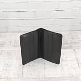 Кошелек 10 cards черный из натуральной кожи saffiano, фото 8