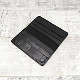 Кошелек 10 cards черный из натуральной кожи saffiano, фото 9