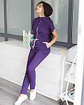 """Комбинезон """"Даллас"""" фиолетовый с белой строчкой, фото 5"""