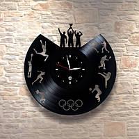 Настенные часы из пластинки Спорт, подарок спортсменам, 0138