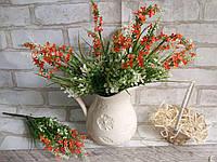 Мелкоцветик с оранжевыми цветками (пластик), в-37 см, (35/30) (цена за 1 шт. + 5 гр.)