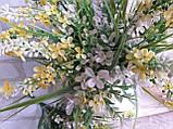 Мелкоцветик с оранжевыми цветками (пластик), в-37 см, (35/30) (цена за 1 шт. + 5 гр.), фото 4