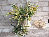 Мелкоцветик с оранжевыми цветками (пластик), в-37 см, (35/30) (цена за 1 шт. + 5 гр.), фото 5