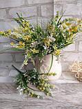 Мелкоцветик с оранжевыми цветками (пластик), в-37 см, (35/30) (цена за 1 шт. + 5 гр.), фото 6