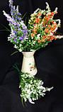 Мелкоцветик с оранжевыми цветками (пластик), в-37 см, (35/30) (цена за 1 шт. + 5 гр.), фото 7