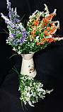 Мелкоцветик с оранжевыми цветками (пластик), в-37 см, (35/30) (цена за 1 шт. + 5 гр.), фото 8