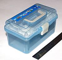 Пластиковый органайзер для фурнитуры и инструментов ГОЛУБОЙ  (20х 12 х 10 см.)