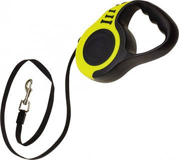 Повідець рулетка для собак Retractable Dog Leash SJ-188-5M, чорно-жовтий, поводок для собак 5 метрів (SV)