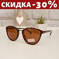 Очки солнцезащитные женские +чехол очки женские коричневые