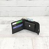 Кошелек square черный из натуральной кожи saffiano, фото 2