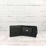 Кошелек square черный из натуральной кожи saffiano, фото 5