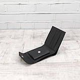 Кошелек square черный из натуральной кожи saffiano, фото 6