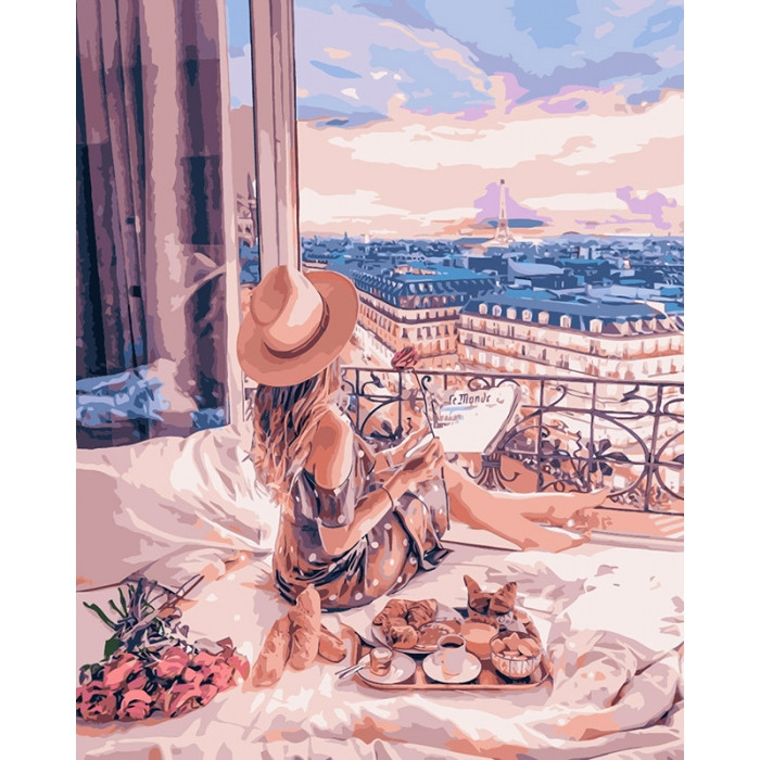 Картина по номерам Отдых в Париже ТМ Идейка 40 х 50 см КНО4544