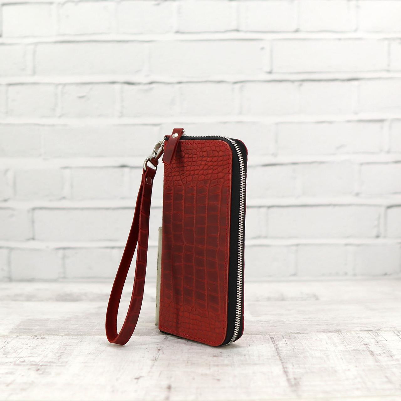 Кошелек Mihey kajman zip красный из натуральной кожи kayman 1270202