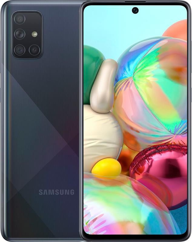 "Смартфон Samsung Galaxy A71 SM-A715 Dual Sim Black (SM-A715FZKUSEK); 6.7"" (2400х1080) Super AMOLED Plus / Qualcomm Snapdragon 730"