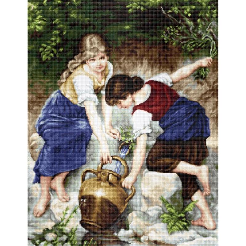 Наборы для вышивания крестом Классика Luca S У фонтана