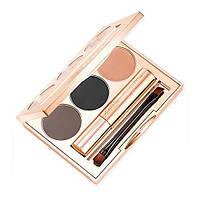 Набор для макияжа бровей Brow Bar by Reema True Glam Makeover Kit Dark