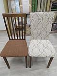 Чехлы без оборки на стулья жаккардовые DONNA  натяжные набор 6-шт капучино № 5, фото 5