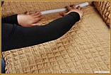 Чехол натяжной на угловой диван и кресло DONNA  мокко 202  и еще 15 расцветок, фото 5