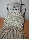 Чехлы VIP натяжные на стулья жаккардовые DONNA  набор 6 шт кремовые 204, фото 3