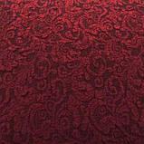 Чехлы VIP натяжные на стулья жаккардовые DONNA  набор 6 шт бордовые 221, фото 2