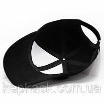 Бейсболка котон черная PUMA (ТКАНЬ-ДИАГОНАЛЬ), фото 3