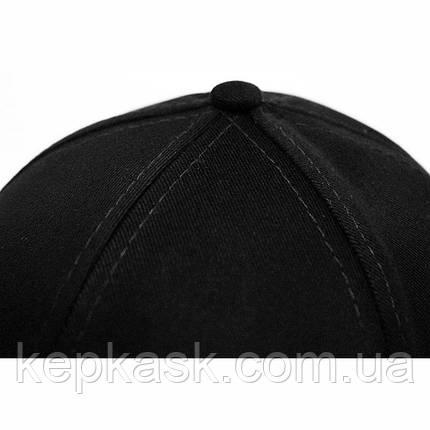 Бейсболка котон черная PUMA (ТКАНЬ-ДИАГОНАЛЬ), фото 2